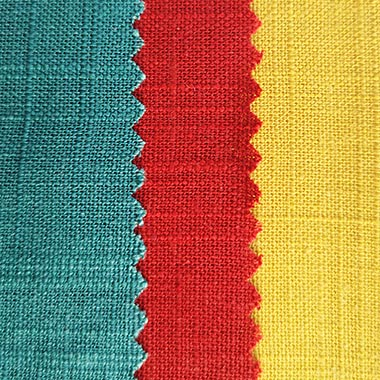 12*12 slub linen fabric 170g 175g 180g red blue yellow customized