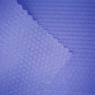 240T hexagon pattern football polyester dobby pongee fabric